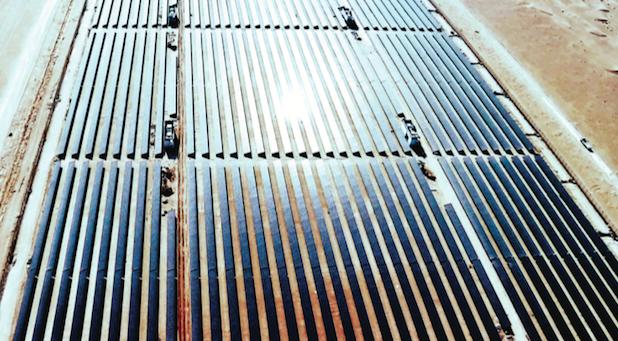 The Mohammed bin Rashid Al Maktoum Solar Park in Seih Al Dahal, about 50 kilometers south of Dubai in the United Arab Emirates. Photo credit: First Solar
