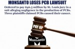 This case, which went on trial April 28, involved only three of nearly 100 plaintiffs claiming that exposure to polychlorinated biphenyls, or PCBs, caused non-Hodgkin lymphoma. Photo credit: GMO Free USA