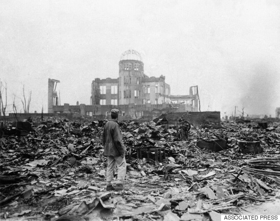 Hiroshima, Japan, on Sept. 8, 1945, about a month after the first atomic bomb ever used in warfare was dropped by the U.S. (AP Photo/Stanley Troutman)