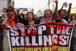 Activists decry extrajudicial killings of human rights advocates in the Philippines under the Aquino presidency. (Photo Courtesy of Toto Lozano / MindaNews.com)