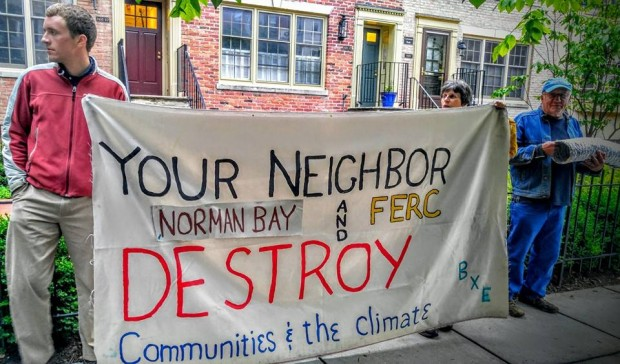 BXE protest at Norman Bey home by Jimmy Betts