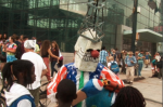 The 'Fossil Fool' at the People's Climate March (image by Roland Marconi)   DMCA