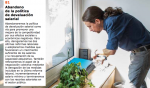 Podemos leader Pablo Iglesias is pictured watering plants, among other daily tasks, in the party's creative approach to its platform. (Photo: Podemos)