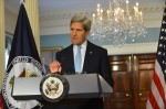 U.S. Secretary of State John Kerry on Aug. 30, 2013, claimed to have proof that the Syrian government was responsible for a chemical weapons attack on Aug. 21, but that evidence failed to materialize or was later discredited. [State Department photo]