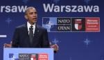 Obama speaking at NATO meeting