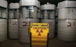 Drums of nuclear waste in a salt shaft at New Mexico's Waste Isolation Pilot Plant. (photo: Brian van der Brug/LA Times) go to original article