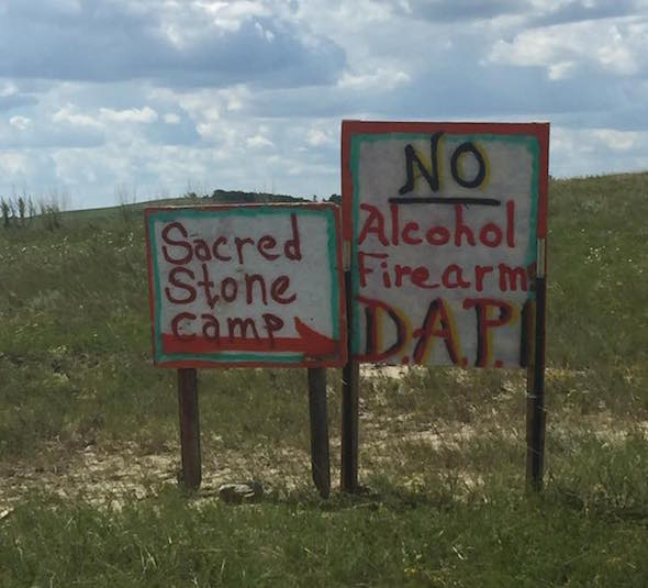 The DAPL opposition message is clear: Stop the pipeline. (Erich Longie / Facebook