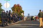 Police at 2007 anti-war protest in Olympia, WA. Photo: Jason Taellious