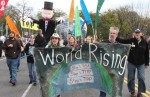 Stop TPP, TiSA and TTIP protest Earth Rising