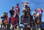 War ponies at Standing Rock. (Robert DesJarlait / Facebook)