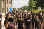 Participants marching in Black Lives Matter Rally at Cornell University, September 23, 2016 (Credit: Julia Cole Photography)