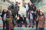 The Dream Defenders in downtown Nazareth, Israel, in January 2015 COURTESY OF MAY ALHASSEN