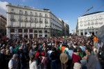 Thousands of Spaniards marched in downtown Madrid to mark the fifth anniversary of a protest movement that led to the creation of Podemos, now Spain's third most-popular political party