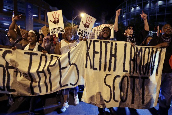 Others parts of the U.S. are joining forces with North Carolina, expressing their outrage over the killing of Keith Scott.