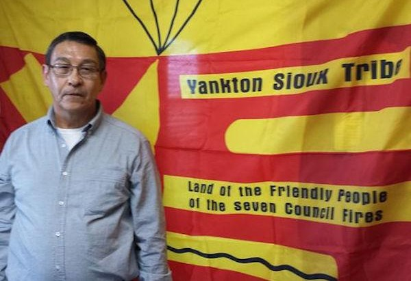 Courtesy Yankton Sioux Tribe Yankton Sioux Tribe Business and Claims Committee Chairman Robert Flying Hawk.  Read more at http://indiancountrytodaymedianetwork.com/2016/09/09/yankton-sioux-tribe-sues-us-army-corps-usfws-over-dakota-access-165736