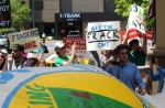Colorado anti-fracking activists rally in Denver earlier this year, but now face an industry-backed ballot initiative they feel is aimed at stopping citizen drives to oppose fracking. Credit: Wild Earth Guardians, via Flickr