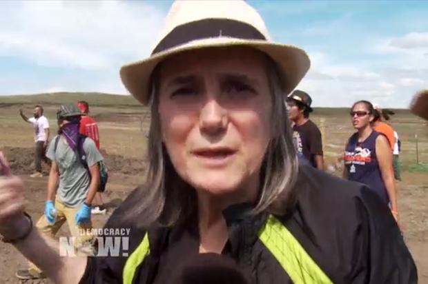 Amy Goodman reporting for North Dakota #NoDAPL protest