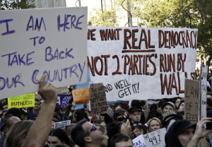 Democracy I want real democracy not two Wall St parties