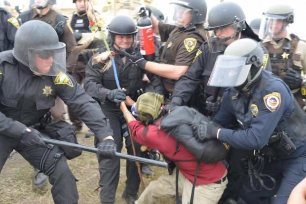 NoDAPL aggressive police