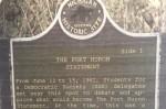 Port Huron Statement plaque