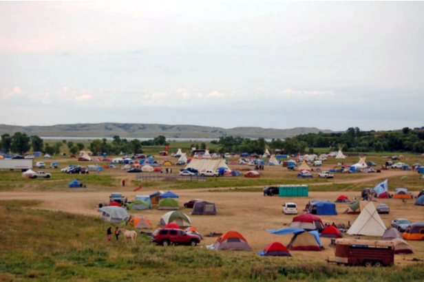 The campsite in Cannon Ball, N.D. (Credit: Phil McKenna)