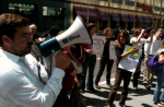 Cross-sector demonstration outside the TPP negotiating round in San Francisco in June 2010