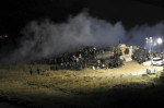 Police used water cannons and rubber bullets in confronting Dakota Access protesters last weekend. Credit: Reuters