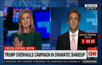 """CNN's Brianna Keilar (8/17/16) lectures the Trump campaign's Michael Cohen on how the """"polls…all of them"""" show that """"you guys are down."""" (image: MMFA)"""