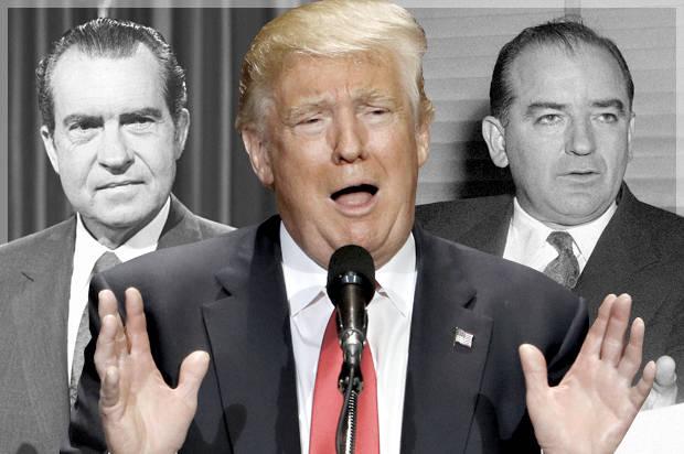 Nixon Trump McCarthy