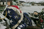 Hurricane damage in New Orleans: 'If Trump pleases his most extreme friends, he will own every climate disaster in the next four years.' Photograph: Justin Sullivan/Getty Images