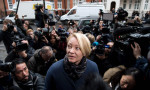 Swedish prosecutor Ingrid Isgren arrives at the Ecuadorian embassy in London to interview Julian Assange. Photograph: Justin Tallis/AFP/Getty Images