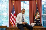 President Barack Obama in the Oval Office.