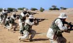 Marines at firing practice at Camp Lemonnier, Djibouti (Source: USMC)