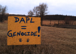 One of the countless signs of opposition to the pipeline.