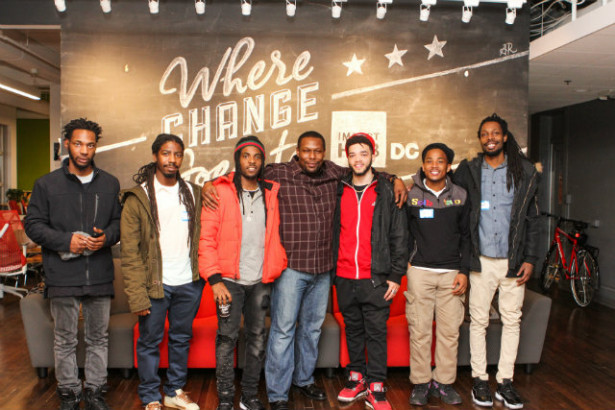 Some of TightShift's members: Delonte Wilkins, Noreil Gorham, Nicholas Gorham, Juan Reid, Joseph Morgan, Adriel Fogle, Donnell Sims. (Photo by Samira Rashid/SR Photography)