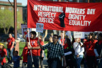 The International Workers Day march for immigrant and workers rights in April of this year in Minneapolis (Fibonacci Blue/ Flickr)