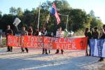 Blockade of the Santa Fe River drilling site, Nov 5, 2016