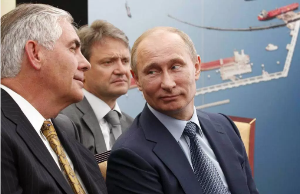 Rex Tillerson – Exxon Mobil CEO and Trump's pick for Secretary of State – with Vladimir Putin: part of a burgeoning global kleptocracy