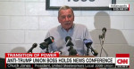 """United Steelworkers Local 1999 president Chuck Jones joked Friday, """"I was not offered a job as secretary of labor. That's off the table."""" (Screenshot: CNN)"""