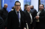 AP Photo/Carolyn Kaster Steven Mnuchin, national finance chairman of President-elect Donald Trump's campaign, arrives at Trump Tower, Monday, November 21, 2016 in New York, to meet with President-elect Donald Trump.