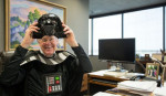 David Koch dressed as Darth Vader not just once, but twice, for Halloween. (Twitter/Koch Industries)