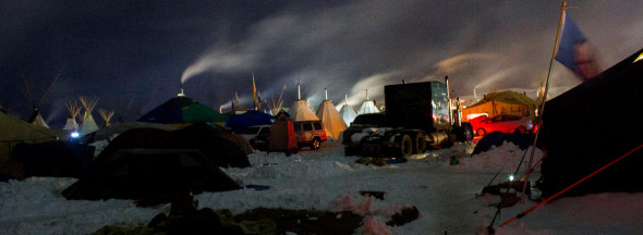 Standing Rock camp. (Credit: Dark Sevier/flickr)