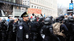 American Nightmare, militarized police at Trump Inauguration protest by Eleanor Goldfield of Art Killing Apathy