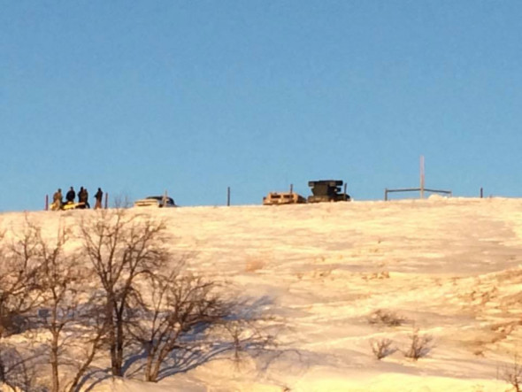 Anti-missile-truck-on-hill-at-Standing-Rock-–-Courtesy-Gary-Dorr