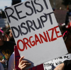 Austin Texas protest Resist Disrupt Organize Photo from Steve Rainwater-flickr-cc