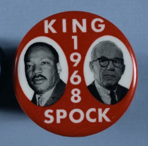 King Spock button with images of them
