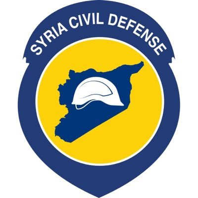 """The """"White Helmets"""" symbol, expropriating the name of """"Syria Civil Defense."""""""
