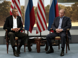 Obama and Putin at G8