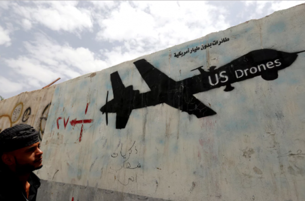 'One bombing technique that President Obama championed is drone strikes.' Photograph: Yahya Arhab/EPA