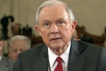 Screen shot from CSPAN broadcast of Senator Jeff Sessions' confirmation hearing for Attorney General
